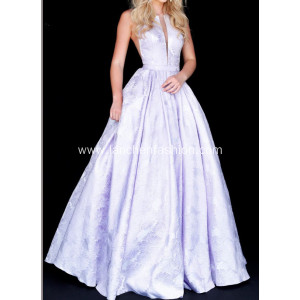 Women's Long Mikado Prom Formal Dress